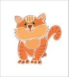Gato gordo grueso del jengibre Fotos de archivo libres de regalías