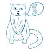 Gato gordo - ilustration del vector Fotografía de archivo