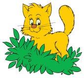 Gato (grampo-arte do vetor) Fotografia de Stock