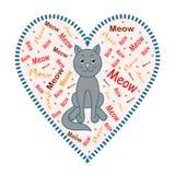 Gato Imagen de un gato gris ilustración del vector