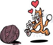 Gato juguetón Fotografía de archivo