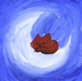 Gato lindo soñoliento Imagen de archivo