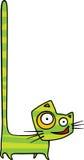 Gato loco con la cola larga en aire Imagen de archivo libre de regalías
