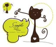 Gato marrón encantador ilustración del vector