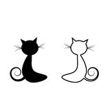 Gato negro Foto de archivo libre de regalías