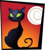 Gato negro de Haloween Foto de archivo libre de regalías