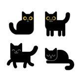 Gato negro de la historieta Fotos de archivo libres de regalías