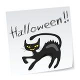 Gato negro de Víspera de Todos los Santos Fotos de archivo