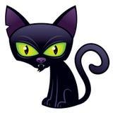 Gato negro de Víspera de Todos los Santos Foto de archivo