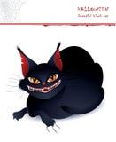 Gato negro terrible Imagen de archivo