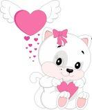 Gato no amor Imagens de Stock Royalty Free
