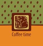 Gato no café Imagens de Stock Royalty Free