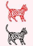 Gato ornamentado Imagem de Stock Royalty Free