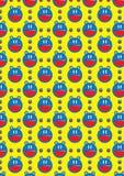Gato Pattern_eps sem emenda da bateria Foto de Stock