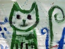 Gato pintado fotografia de stock