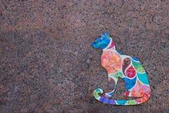 Gato pintado na parede Imagens de Stock Royalty Free