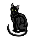 Gato preto. ilustração do vetor
