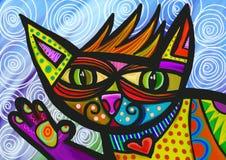 Gato que agita stock de ilustración