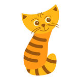 Gato rojo alegre Foto de archivo