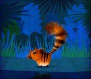 Gato rojo en selva Fotografía de archivo