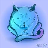 Gato roxo Fotografia de Stock