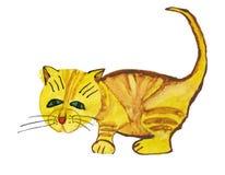 Gato rufo. Gráfico del niño Fotos de archivo libres de regalías