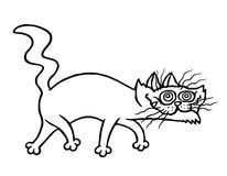 gato siniestro Ilustración del vector Fotografía de archivo