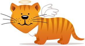 Gato sonriente del ángel Fotografía de archivo libre de regalías