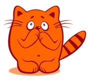 Gato tímido Fotografia de Stock Royalty Free