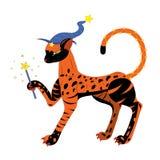 Gato uma bruxa. ilustração royalty free