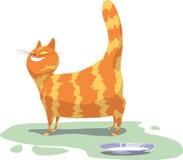 Gato vermelho. ilustração do vetor