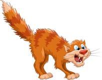 Gato vermelho ilustração stock