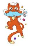 Gato vermelho ilustração do vetor