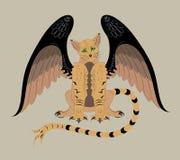 Gato voado ilustração royalty free