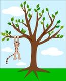 Gato y árbol Imagenes de archivo
