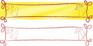 Gato y acoplamiento de la pizca de la bandera Foto de archivo libre de regalías