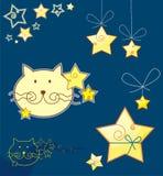 Gato y estrellas Foto de archivo