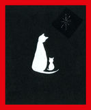 Gato y gatito de la Navidad Foto de archivo libre de regalías