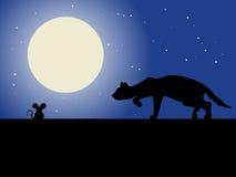 Gato y ratón stock de ilustración