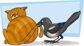 Gato y urraca libre illustration