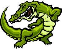 вектор талисмана иллюстрации gator аллигатора Стоковая Фотография
