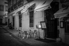 Gator av Almada Cacilhas Royaltyfri Fotografi