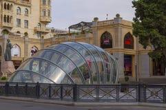 Gator av Baku royaltyfria foton