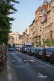 Gator av budapest Ungern royaltyfri bild