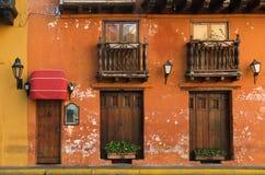 Gator av Cartagena, Colombia Fotografering för Bildbyråer