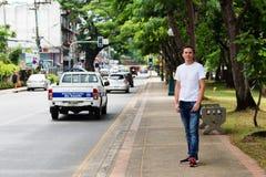 Gator av Chiang Mai Arkivbilder