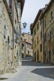 Gator av Cortona, Italien Royaltyfri Fotografi