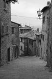 Gator av Cortona, Italien Royaltyfri Foto