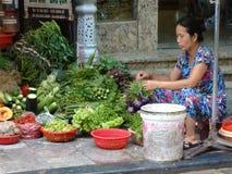 Gator av den gamla fjärdedelen för Hanoi ` s Royaltyfria Foton