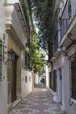 Gator av den gamla staden av Marbella, Andalusia Royaltyfri Fotografi